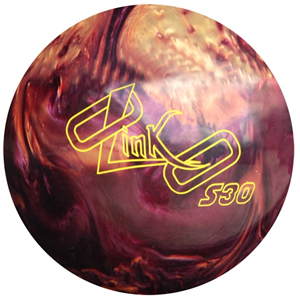 link burgundy/gold bowling ball