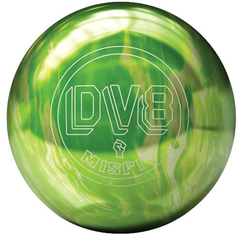DV8 Misfit Green/White, Bowling Ball