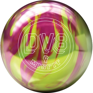 DV8 Misfit Magenta/Yellow, Bowling Ball