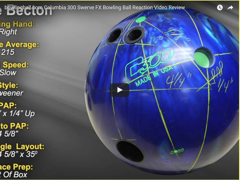 Columbia 300 Swerve FX Bowling Ball Video Review by bowlingball.com