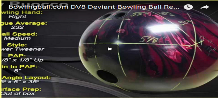 DV8 Deviant Bowling Ball Video Review by bowlingball.com