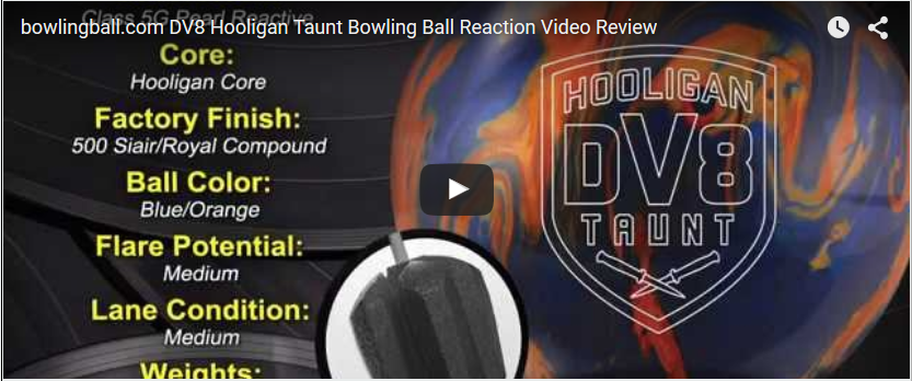 DV8 Hooligan Taunt Review, Bowling Ball Video by bowlingball.com