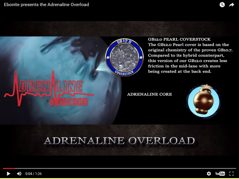 Ebonite Adrenaline Overload Bowling Ball Video Review by Ebonite