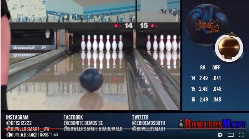 Ebonite Game Breaker 2 Phenom, bowlingball.com, reaction, Video, Bowling, Ball, Review