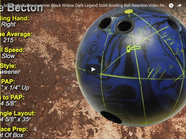 Hammer Black Widow Dark Legend Solid, Bowling, Ball, Reaction, Video, Review, Hammer Bowling Balls