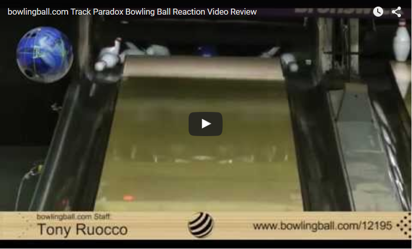 Track Paradox Bowling Ball Reaction Video by bowlingball.com