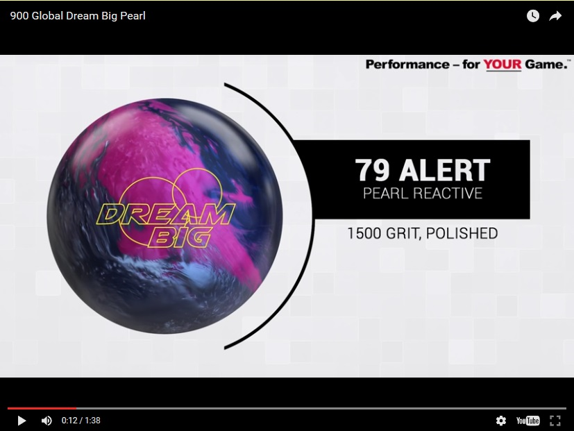 900 Global Big Dream Pearl, Bowling, Ball, Video, Review