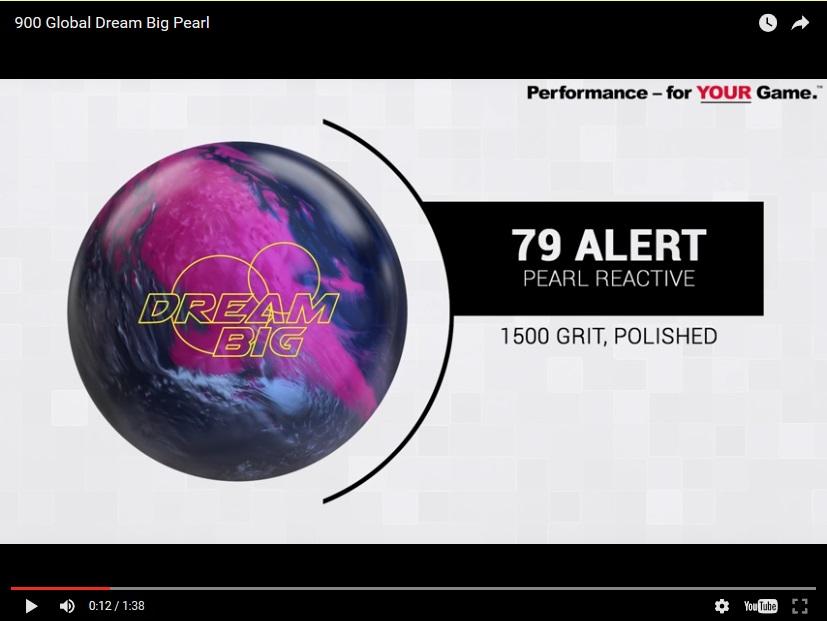 900 Global Big Dream Pearl, Bowling, Ball, Video, Review