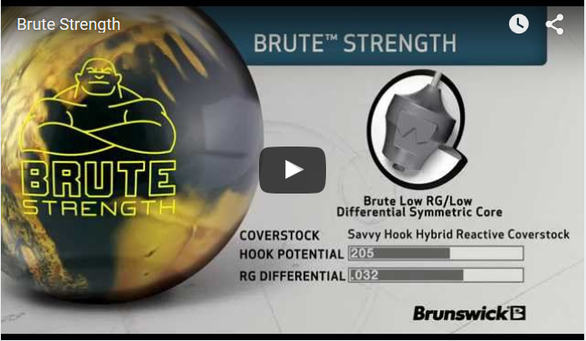 Brunswick Brute Strength Bowling Ball Video Review by Brunswick With Sean Rash