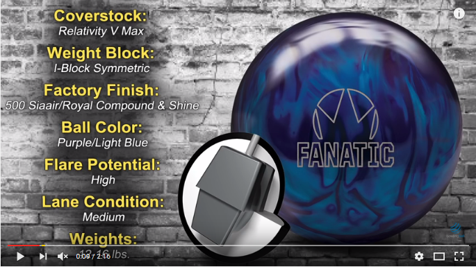 Brunswick Fanatic, Bowling Ball Video, Bowling Ball Video Reviews, Bowling Ball Reaction Video, Brunswick Bowling Ball Reviews, Brunswick Bowling Ball Videos