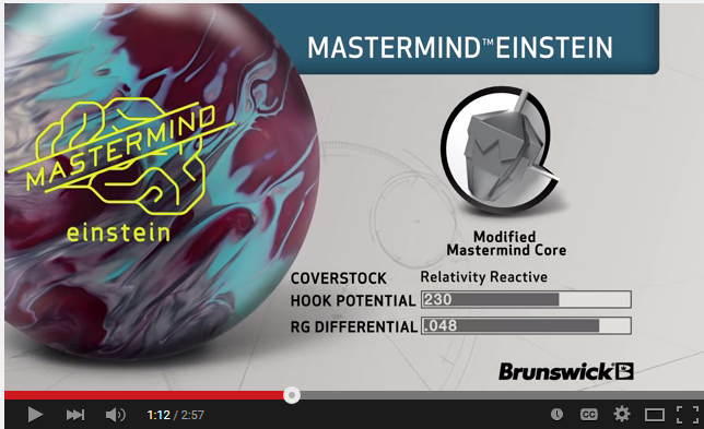 Mastermind Einstein Reaction Video Brunswick Bowling Ball With Sean Rash