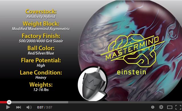 Brunswick Mastermind Einstein Bowling Ball Reaction Video Review