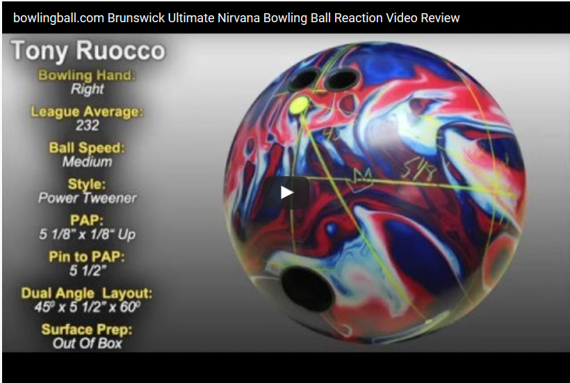 Brunswick Ultimate Nirvana Bowling Ball Video Review by bowlingball.com