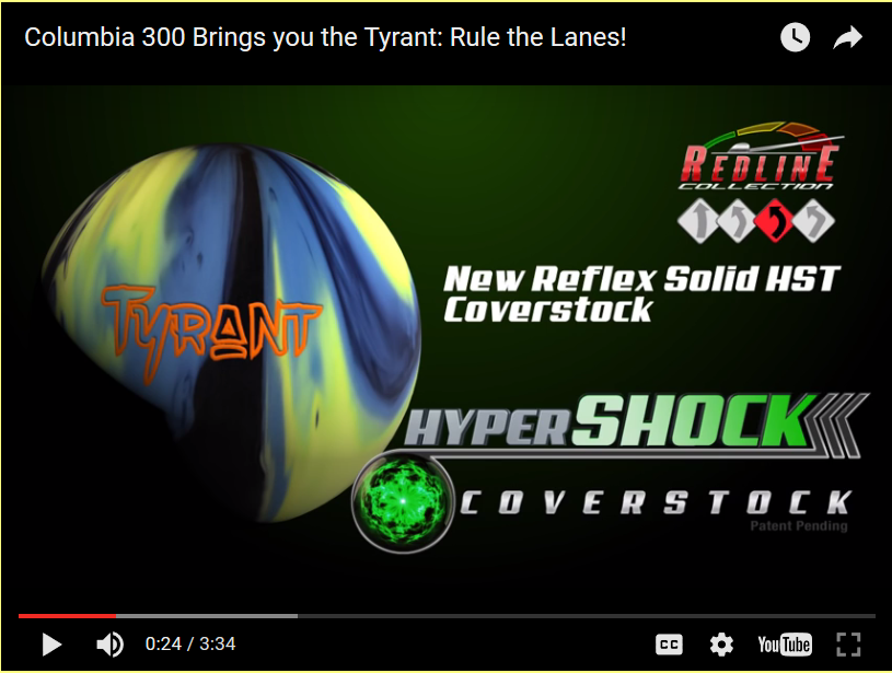 Columbia 300 Tyrant, Bowling Ball Video, Bowling Ball Video Reviews, Bowling Ball Reaction Video, Columbia 300 Bowling Ball Reviews, Columbia 300 Bowling Ball Videos