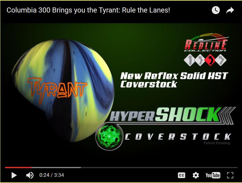 Columbia 300 Tyrant, Bowling Ball Video, Bowling Ball Video Reviews, Bowling Ball Reaction Video, Columbia 300 Bowling Ball Reviews, Columbia 300 Bowling Ball Videos