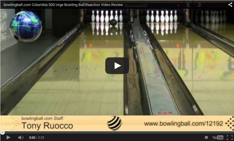 Columbia 300 Urge Bowling Ball Reaction Video Review, video by bowlingball.com