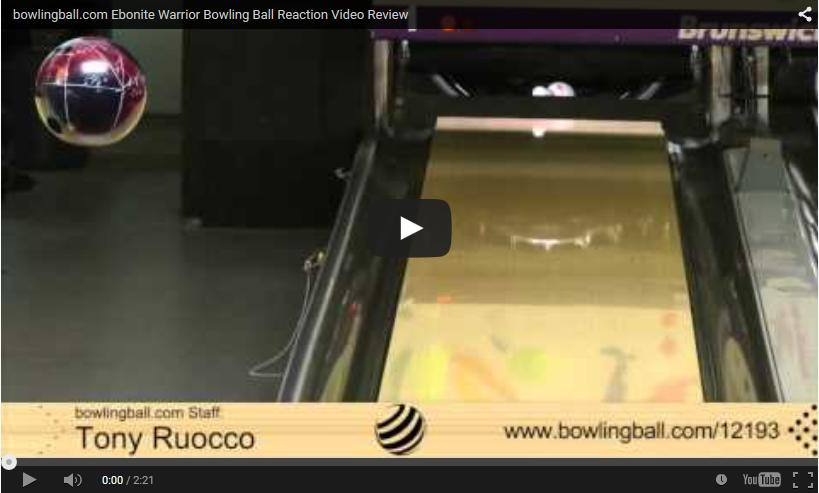 bowlingball.com Ebonite Warrior Bowling Ball Reaction Video Review