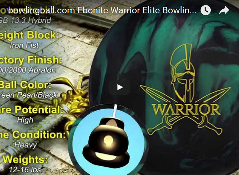 Ebonite Warrior Elite Bowling Ball Video Review by bowlingball.com