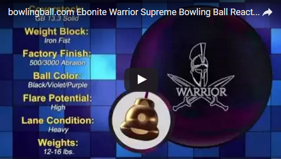 ebonite warrior supreme,bowlingball.com, reaction, Video, Bowling, Ball, Review