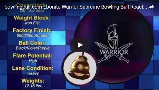 ebonite warrior supreme,bowlingball.com, reaction, Video, Bowling, Ball, Review
