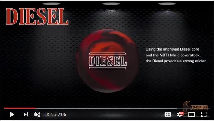 Hammer Diesel, Hammer Bowling Ball Reviews, bowling ball review, Hammer Bowling Ball Videos