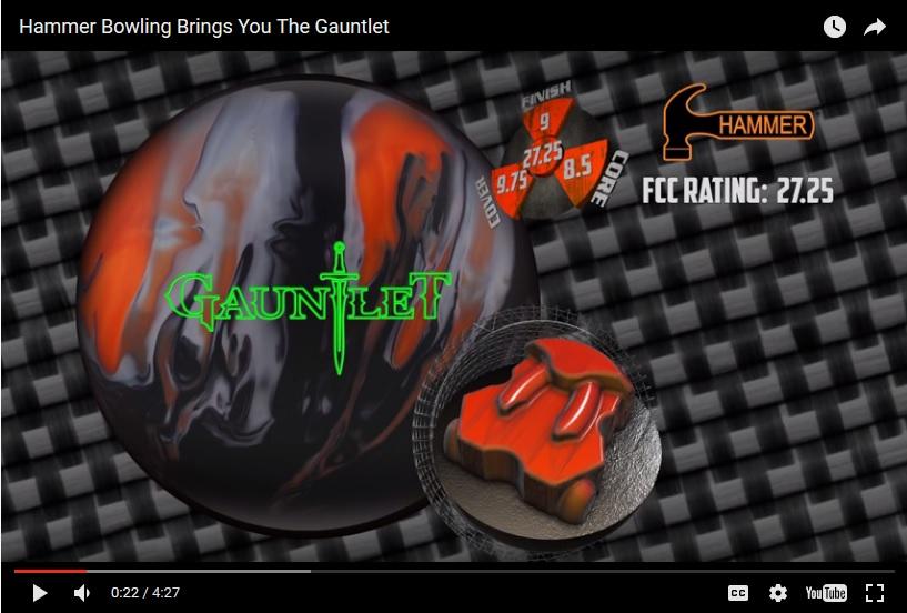 Hammer Gauntlet, Hammer Bowling Ball Reviews, Hammer Bowling Ball Video, Bowling Ball Video Reviews, Bowling Ball Reaction Video