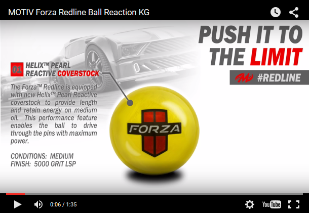 Motiv Forza Redline Bowling Ball Video