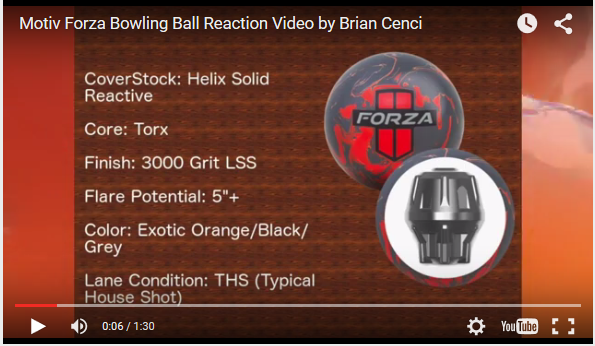 Motiv Forza Bowling Ball Reaction Video