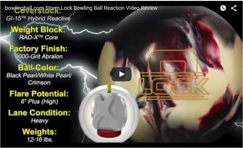 Storm Lock Bowling Ball Video Review by bowlingball.com