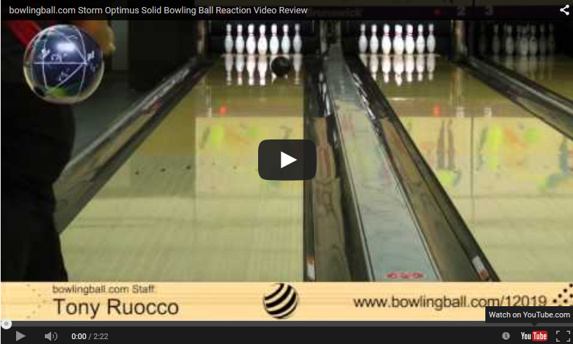 Storm Optimus Solid Video, Bowling Ball Reaction Video Review, video by bowlingball.com