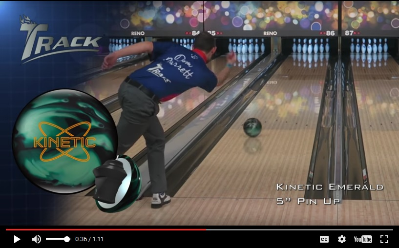 Track Kinetic Emerald, Track Bowling Ball Reviews, Track Bowling Ball Video, Bowling Ball Video Reviews, Bowling Ball Reaction Video