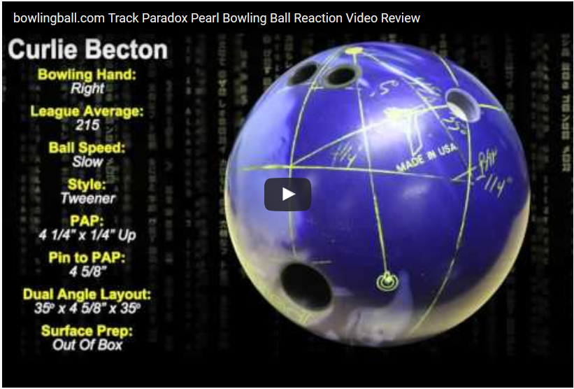 Track Legion Pearl Bowling Ball Video Review by bowlingball.com