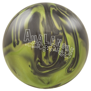 Brunswick Avalanche Black/Electric Green Reactive Pearl Bowling Ball