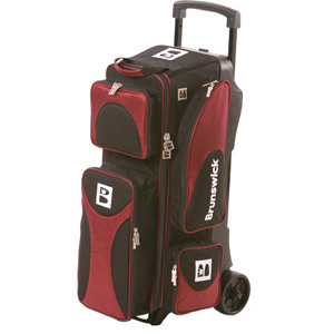 brunswick 3 ball roller bowling bag