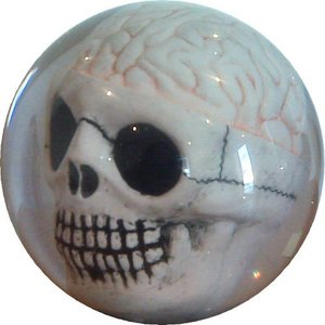 Clear Brain Bowling Ball