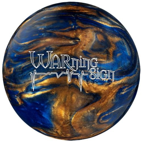Ebonite Warning Sign, bowling ball