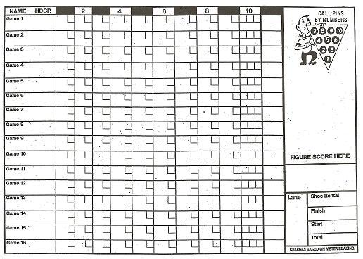 photo about Printable Bowling Score Sheet titled A Printable Bowling Ranking Sheet